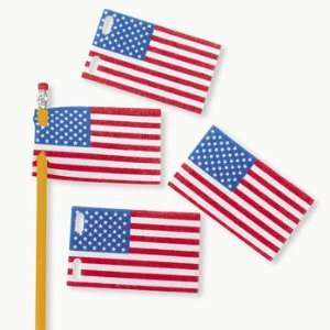 Flag Pencil Pennants   Basic School Supplies & Erasers & Pencil