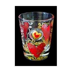 New   Hearts of Fire Design   Hand Painted   Collectible