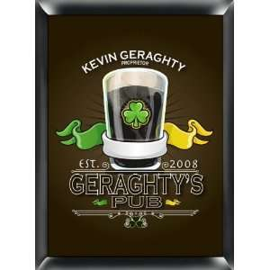 PERSONALIZED 12 IRISH PUB Collectible TRADITIONAL SERIES