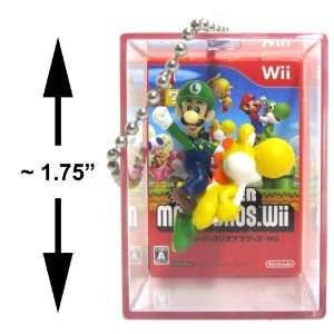 New Super Mario Bros Wii Bobble Figure Keychain Cube