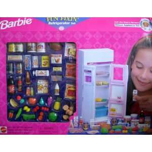 Barbie   Fun Fixin Refrigerator Set   Deluxe Appliance Playset w