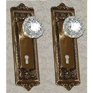 COMPLETE EGG & DART Passage SET with Crystal Glass Door