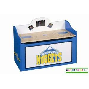 Denver Nuggets Wood Wooden Toy Box Chest