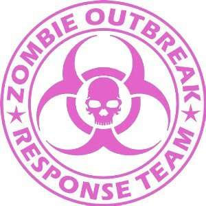 Zombie Outbreak Response Team PINK 5 Die Cut Vinyl Decal
