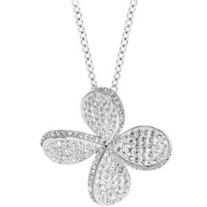 Inox Jewelry Womens Flower in the Wind Blingy Pendant