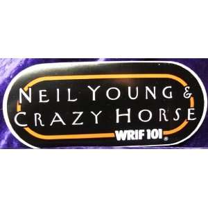 Young and Crazy Horse Bumper Sticker Black and Red