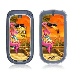Sunset Flamingo Design Protective Skin Decal Sticker Cover