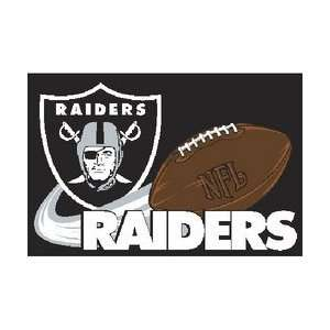 Oakland Raiders NFL Team Tufted Rug by Northwest (20x30