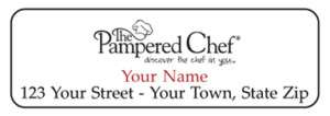 Personalized PAMPERED CHEF Address LABELS