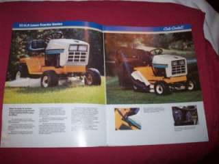 International Cub Cadet Lawn Tractor Brochure 1015 1020 1215 1220 1415