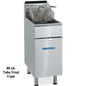 Imperial Gas Deep Fryer   40 Lb Oil Capacity   15 1/2