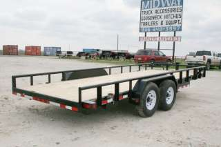 New 20 x 83 Bumper Pull Equipment Lowboy Trailer with 7K Axles