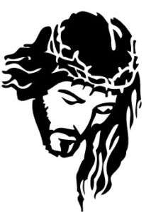Jesus Religious Silhouette Vinyl Decal/Sticker
