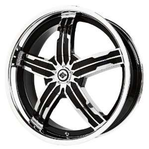 Alloys Sigma Black/Chrome Wheel with Spokes and Lip (20x7.5/5x115 mm