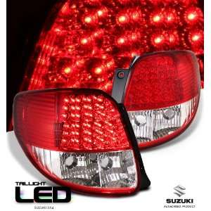 Suzuki 2008  Sx4 Red/Clear Full Led Taillight Led